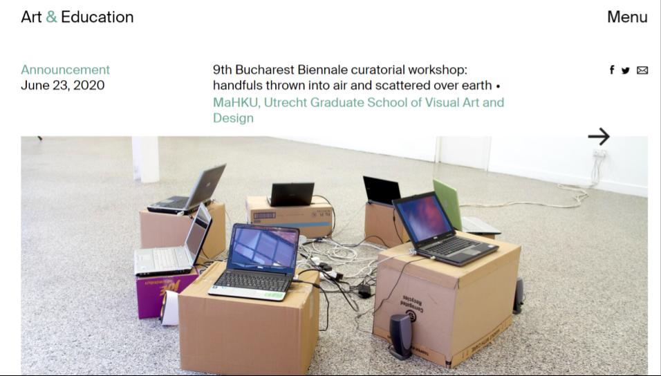 Example of curatorship workshop in Bucharest, Romania!